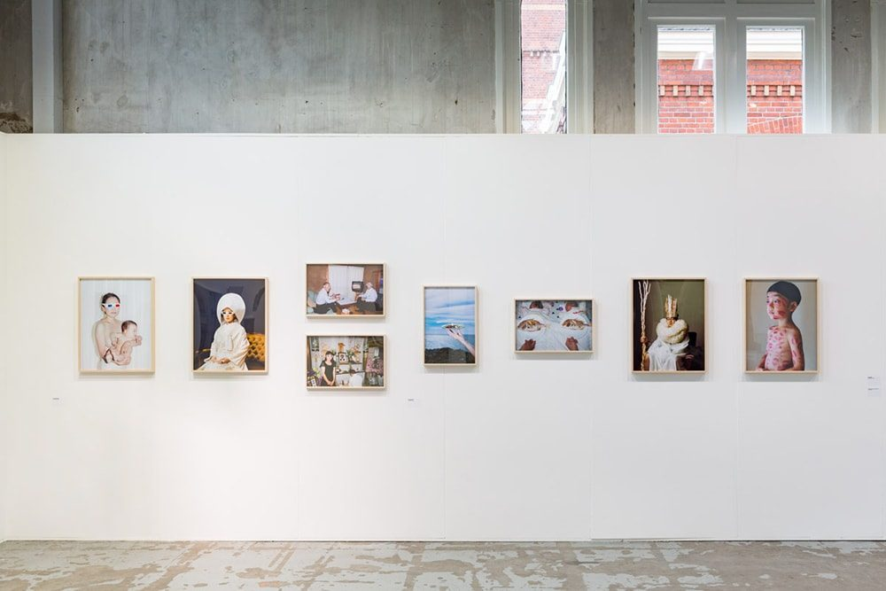 "The exhibition for ""LUMIX MEETS BEYOND 2020 BY JAPANESE PHOTOGRAPHER #6"" in Amsterdam(photo by Shinji Otani)"