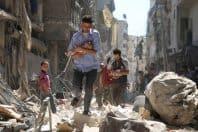 シリア アレッポ 瓦礫からの救出