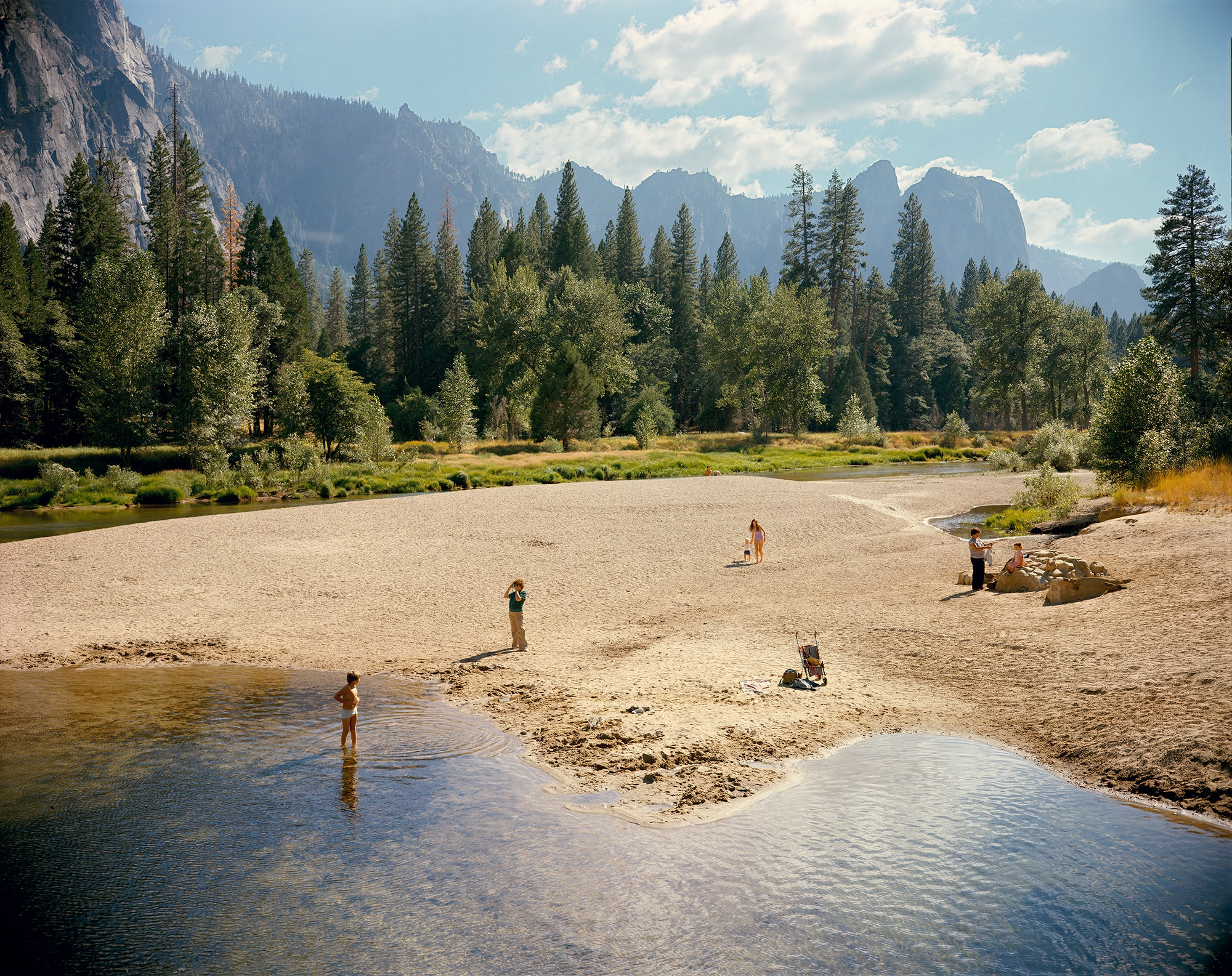 Stephen Shore. Merced River, Yosemite National Park, California, August 13, 1979. 1979. Chromogenic color print, printed 2013, 35 7/8 x 44 15/16″ (91.2 x 114.2 cm). The Museum of Modern Art, New York. Gift of the artist. © 2017 Stephen Shore