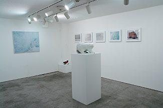 地下1階ギャラリー・石川直樹「Svalbard」展示風景