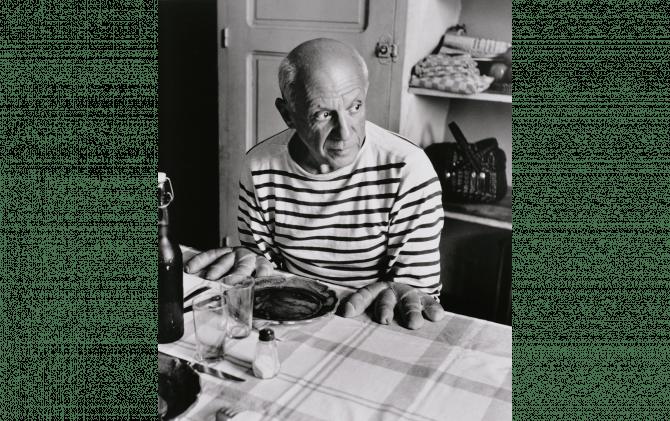 ロベール・ドアノー《ピカソのパン》