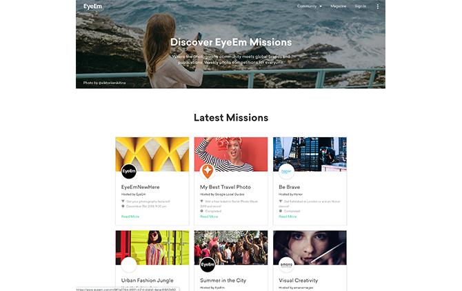 """企業やエキシビションに採用されるさまざまなイメージを""""Missions""""で募る"""