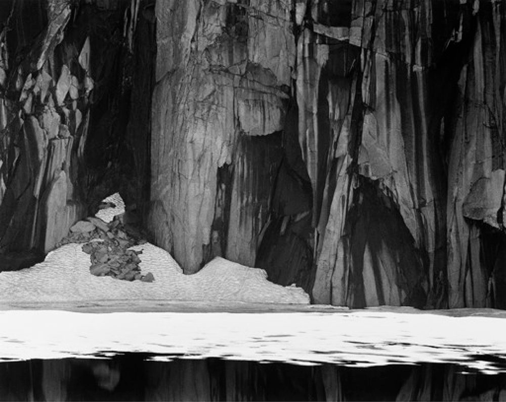 Frozen Lake and Cliffs, Sequoia National Park, California, 1932 by Ansel Adams  © Ansel Adams Publishing Rights Trust/CORBIS/amanaimages