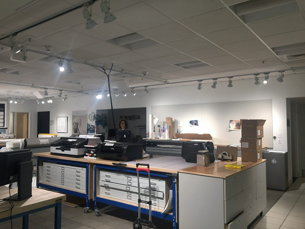 Lab space at Light Work.