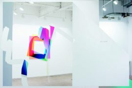 Installation view of the series Image Object / Artie Vierkant
