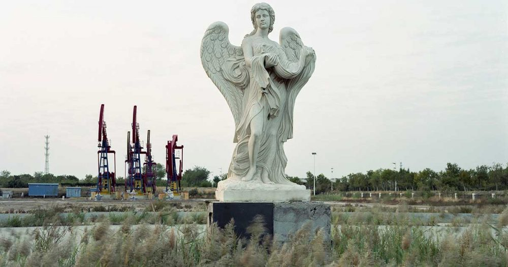 An European Style Sculpture on the Field