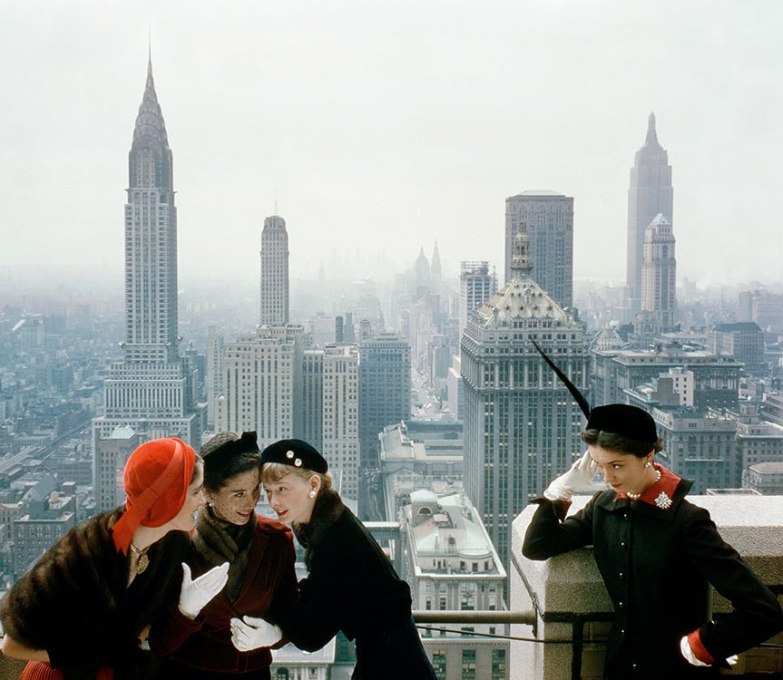 """Young Velvets, Young Prices, Hat Fashions III, 1949"" © Iconic Images/The Norman Parkinson Archive"