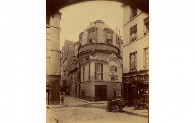 Eugène Atget (French, 1857 - 1927) Ancienne ecole de Medecine, 1898, Albumen silver print 21 × 17.6 cm (8 1/4 × 6 15/16 in.), 90.XM.47 The J. Paul Getty Museum, Los Angeles