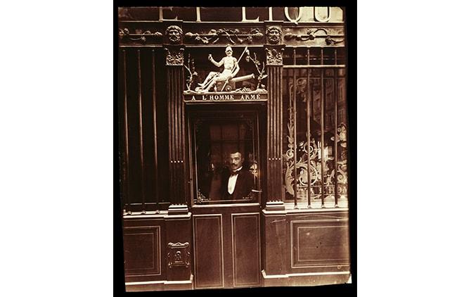 Eugène Atget (French, 1857 - 1927) 25, Rue des Blancs Manteaux (Café, rue des Blancs Manteaux), 1900, Albumen silver print 21.9 × 17.8 cm (8 5/8 × 7 in.), 90.XM.45.2 The J. Paul Getty Museum, Los Angeles