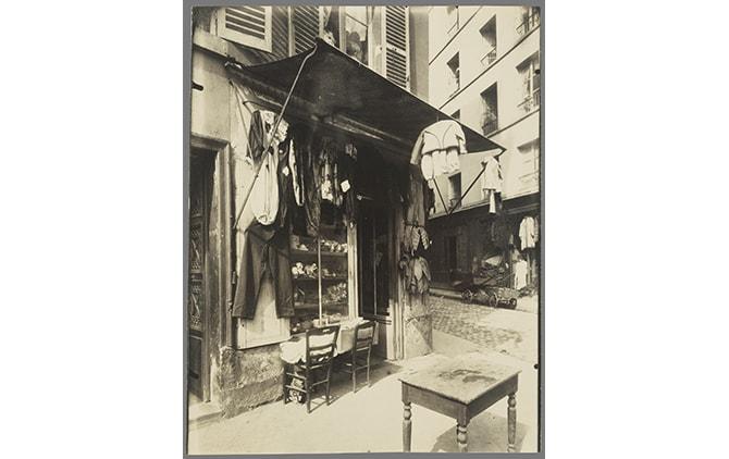 Eugène Atget (French, 1857 - 1927) Rue de la Corderie, negative 1911; print 1920 - 1929, Albumen silver print 22.5 × 17.9 cm (8 7/8 × 7 1/16 in.), 84.XM.1034.4 The J. Paul Getty Museum, Los Angeles