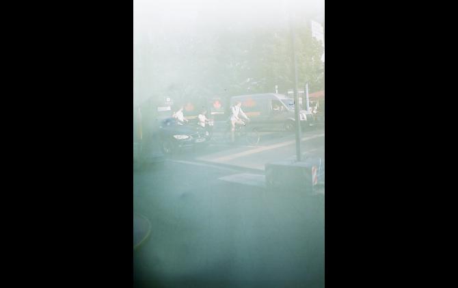 Unter den Linden, Mitte from the series JAPAN IN DER DDR - Gestohlene Erinnerungen wurden erneut zerstört 2016 | type c print | 178 × 126 mm | © Tamami Iinuma, courtesy KANA KAWANISHI GALLERY