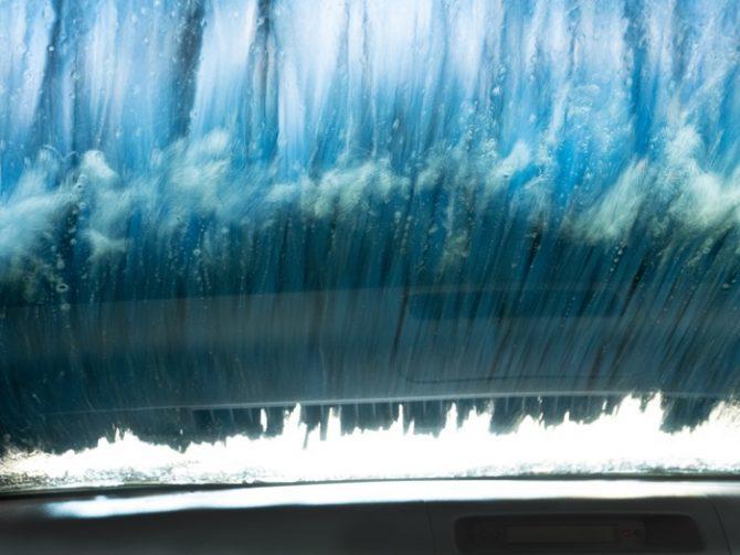 In a Car Washing Machine