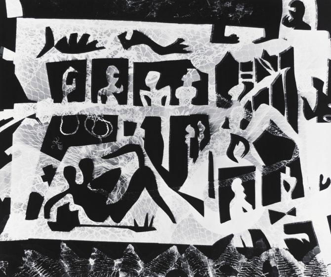 瑛九 「芝居」1950年