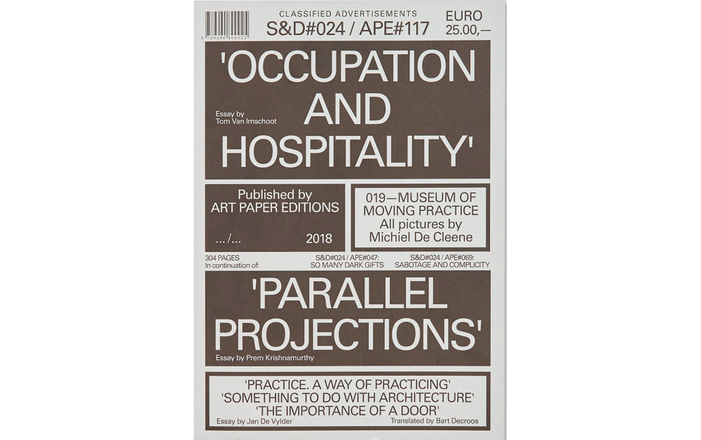 S&D#024 / APE#017: OCCUPATION AND HOSPITALITY