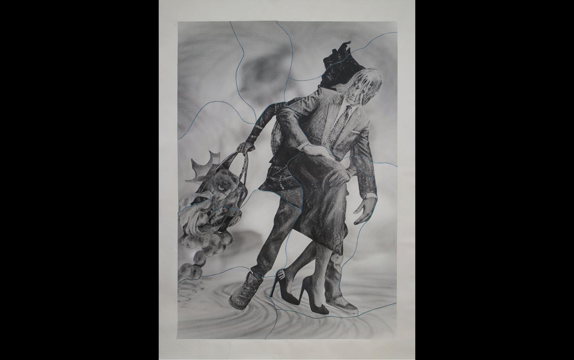 オノデラユキ「型にはまらない自由な発想で、写真表現の境界線を越えていく」 | Muybridge's Twist, No. 41. pastel, crayon, photographs, collage on canvas, 303 x 209cm. 2016, © Yuki Onodera
