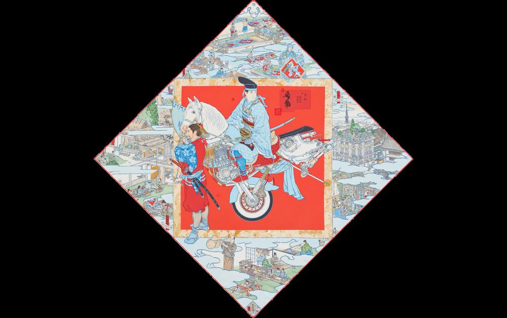 カレ《エルメスの職人たち》山口によるエルメスのワンダーランドをぜひ楽しんで。9色展開/90×90cm/52,000円+tax © Hermès