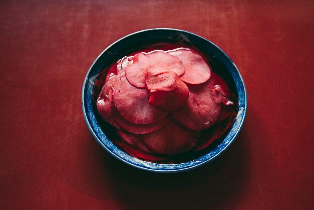 カブの梅酢漬け