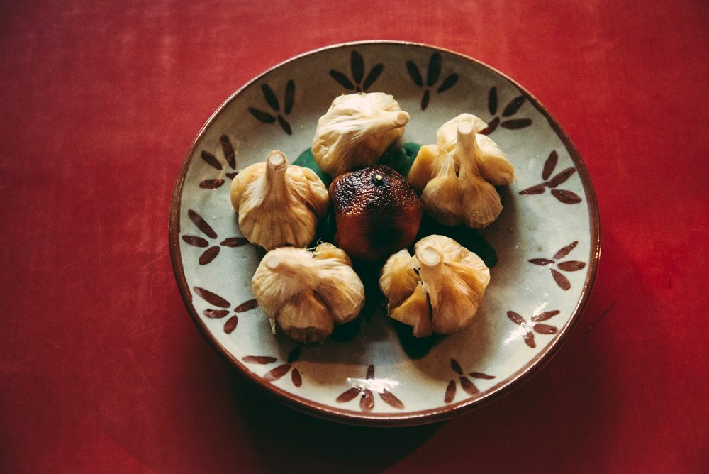 ニンニクの柚蒸し