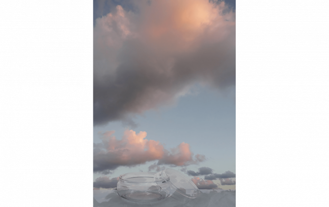 jar and pink cloud, 200101p, 558x430mm(Paper Size), 2020