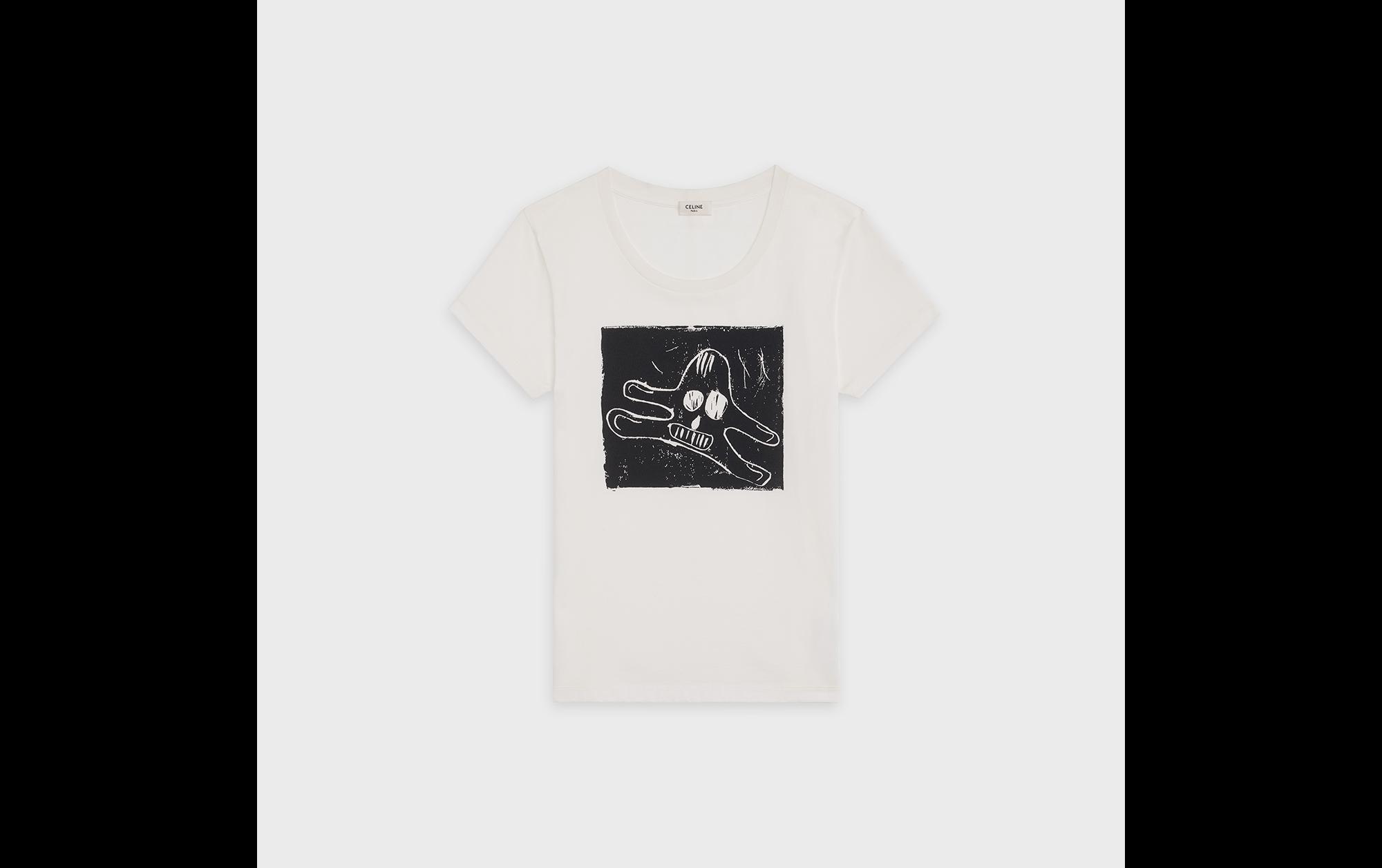 CELINE×Andre Butzer「アートに最も近いデザイナー、エディ・スリマンがアートとのコラボレーションに求めるもの」 | Tシャツ ¥54,000(税抜)