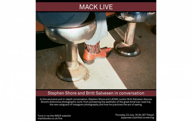 MACK LIVE | Stephen Shore and Britt Salvesen in conversation