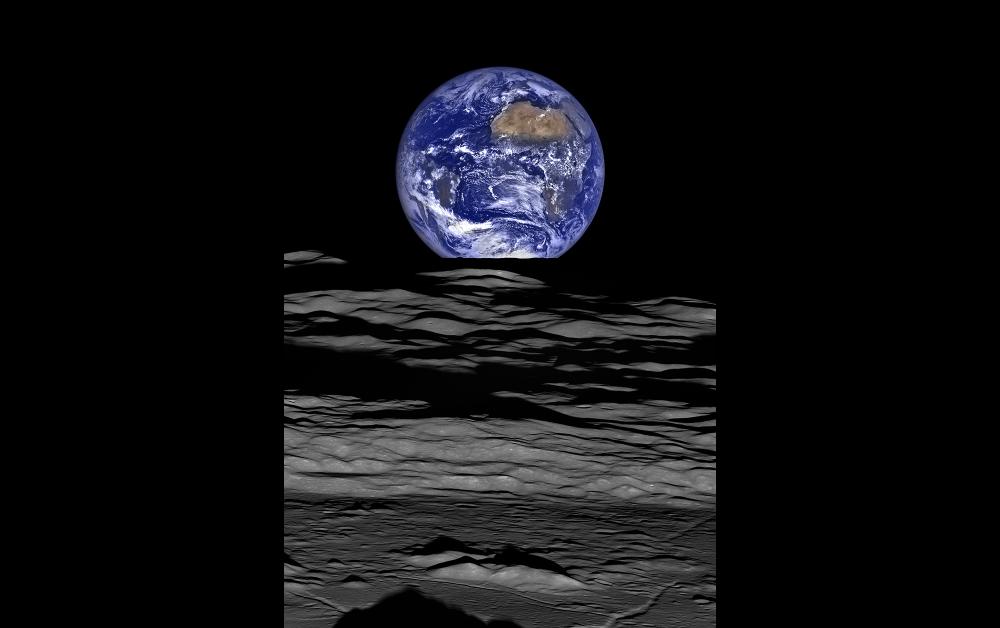 月探査機ルナー・リコネッサンス・オービターがとらえた「地球の出」NASA/Goddard/Arizona State University