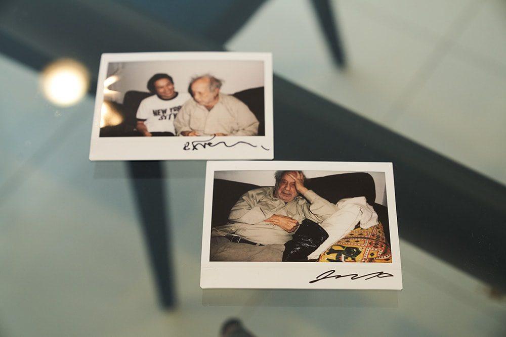ニューヨークでロバート・フランクのアトリエに遊びに行った際、チェキで撮り合った思い出の写真。