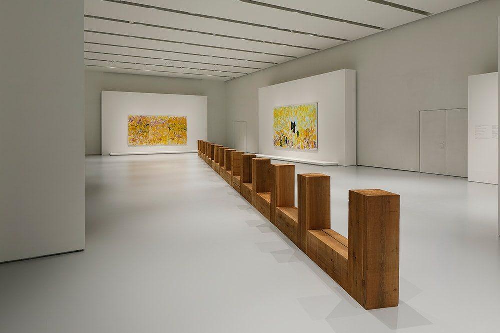 「Joan Mitchell / Carl Andre - Fragments of a Landscape(ある風景の断片)」展展示風景、エスパス ルイ・ヴィトン大阪、2021年。Photo credits: © Keizo Kioku/Louis Vuitton