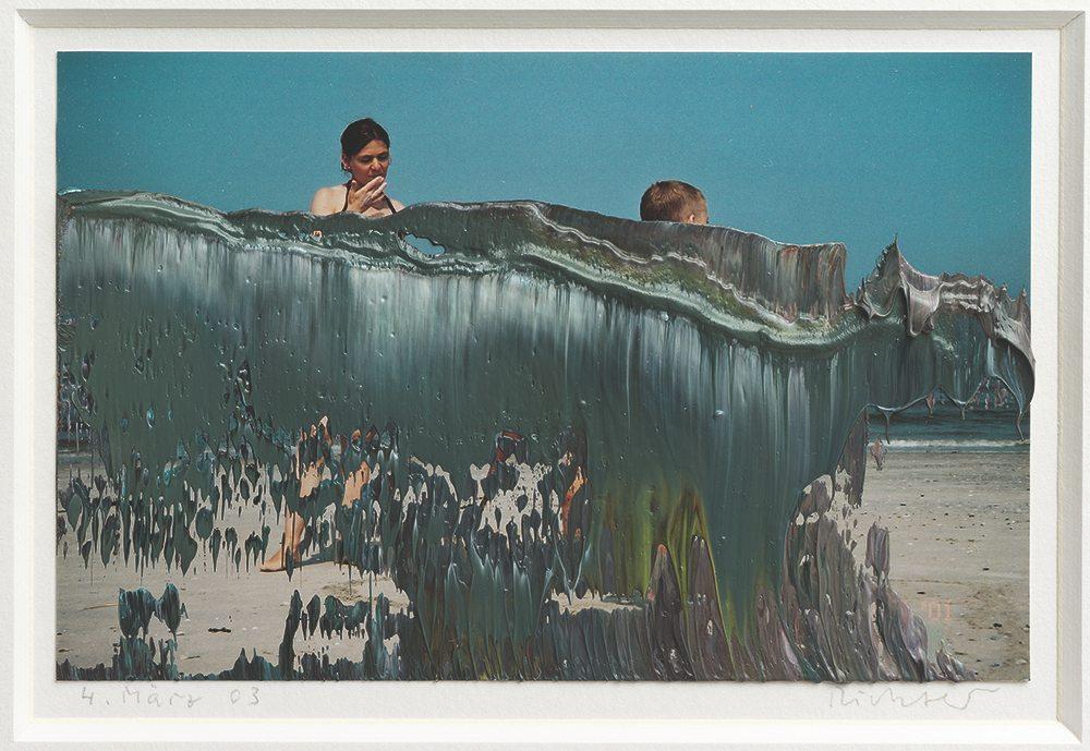 Untitled (4 March 03), 2003  9.7 cm x 15.1 cm Oil on colour photograph © Gerhard Richter 2021 (0125).
