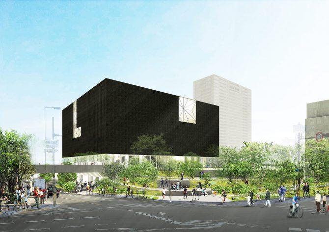 大阪中之島美術館 外観イメージ 大阪市提供 設計:遠藤克彦建築研究所