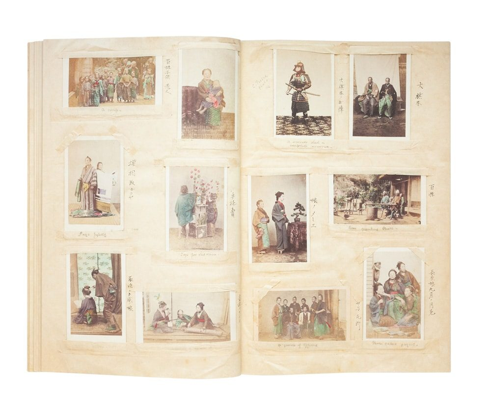 A carte album attributed to Shimooka Renjo, album dated 1865-1868