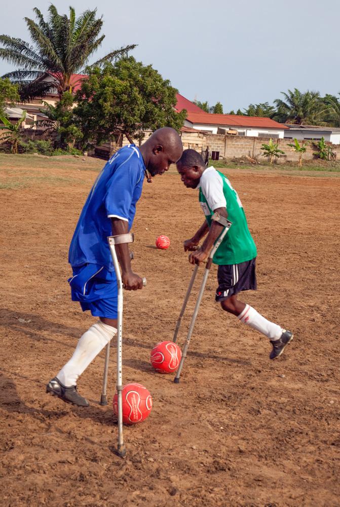 Amputee footballers training, Accra, Ghana, 2010 © Chris Steele-Perkins
