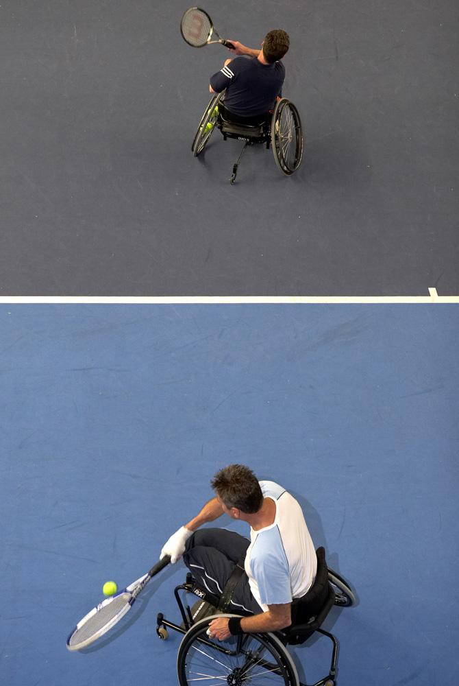 Wheelchair tennis match, London, 2007 © Chris Steele-Perkins