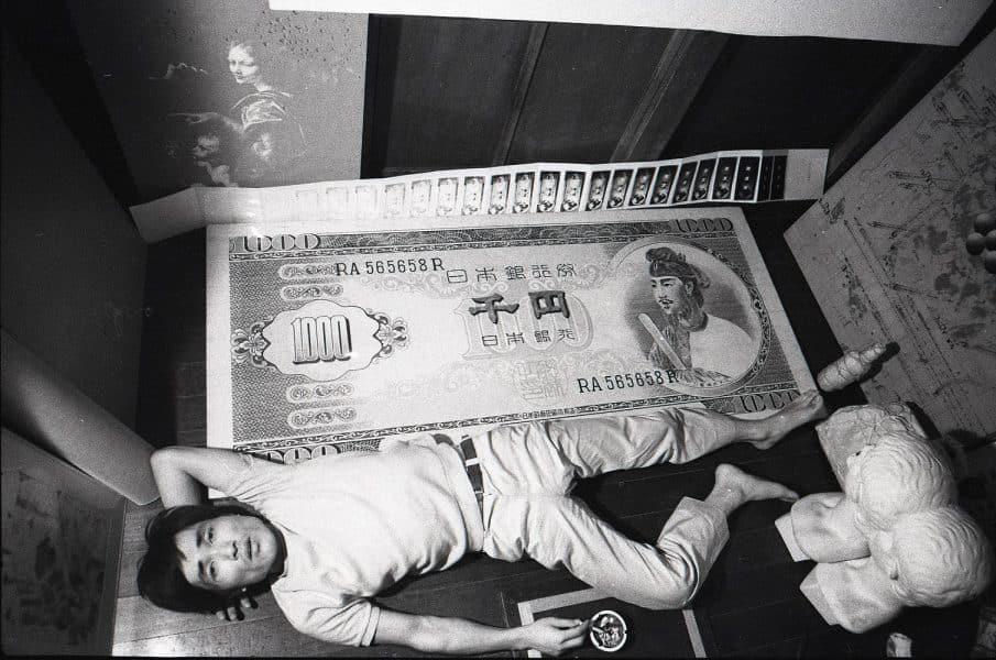 赤瀬川原平 赤瀬川宅 1967年か 写真:羽永光利